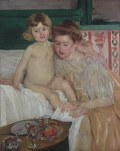 Mary Cassatt, Mother and Child: Baby Getting Up from His Nap, c. 1899