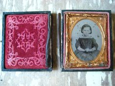 Antique Victorian Ambrotype. Angry girl. by MysteryMisterAntique