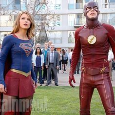 Hot: On the set: Everything you need to know about the Flash-Supergirl crossover
