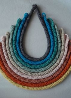 Tube crochet necklaces
