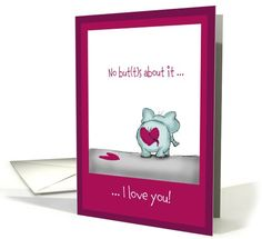 No buts about it - Elephant in love - Valentine's Day card (897416) by Gerda Steiner