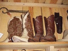 These are some early Cowboy Boots in our Museum and other interesting items