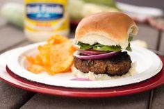 Hellmann's Juicy Salsa Burger - Budget Gourmet Mom