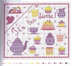 little objects cross stitch pattern,