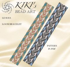 Bead loom pattern - Leaves LOOM bracelet pattern in PDF - instant download