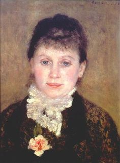 Portrait of woman by Pierre-Auguste Renoir / De Agostini Picture Library / G. Nimatallah / The Bridgeman Art Library Pierre Auguste Renoir, Edouard Manet, August Renoir, Renoir Paintings, Camille Pissarro, Edgar Degas, Paul Cezanne, Girl Reading, Art Database