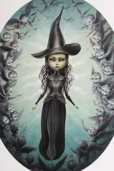 Elphaba and the Flying Monkeys - Limited Edition signed numbered 8x10 pop surrealism lowbrow Fine Art Print by Mab Graves -unframed