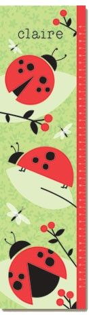 @rosenberryrooms is offering $20 OFF your purchase! Share the news and save!  Ladybug Love Personalized Growth Chart #rosenberryrooms