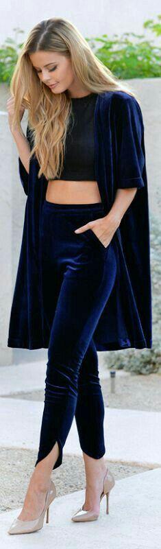 Blue velvet, fall outfit