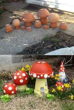 21 Clever Ideas to Adorn Garden and Yard with Terracotta Pots #GardenFurniture