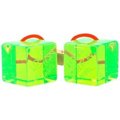 Preowned Louis Vuitton Green Hair Cubes ($100) ❤ liked on Polyvore featuring accessories, hair accessories, green, other, louis vuitton hair accessories, green hair accessories and louis vuitton