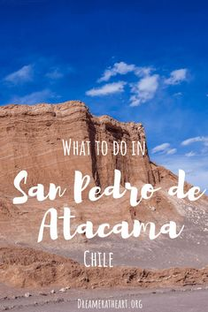 Feast your senses. San Pedro de Atacama has many wondrous things to do such as Valle de la Luna and El Tatio geysers. Read on to discover 6 amazing sights. Backpacking South America, South America Travel, Solo Travel, Travel Tips, Travel Ideas, Chile, South America Destinations, Travel Destinations, Vacation Trips