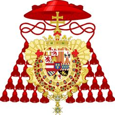 Coat of Arms of the infante Luis de Borbón, as Cardinal and Archbishop of Toledo