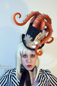 """Tentacle Octopus Hat"" By Megan Bishop: http://www.talenthouse.com/creativeinvites/preview/ab6022b368dbebd312b722f43e40a695/239"