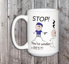 Stop You're Under a Rest  Funny Christmas Gift for Sheet