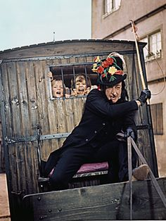 The child catcher from Chitty Chitty Bang Bang.  Scary Robert Helpmann.