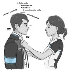 Detroit become human Connor and Kara