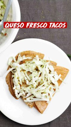 Healthy Taco Recipes, Healthy Tacos, Mexican Food Recipes, Ethnic Recipes, Vegetarian Tacos, Vegan Tacos, Mexican Fresh, Taco Fillings, Tacos And Tequila