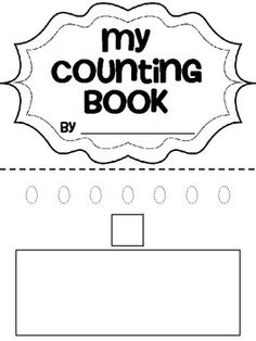 This Counting Book is designed for Pre-K and Kindergarten students working on number writing and counting.