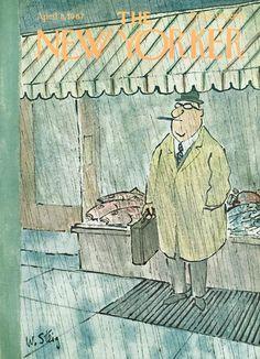 William Steig : Cover art for The New Yorker 2199 - 8 April 1967 The New Yorker, New Yorker Covers, Vintage Illustration Art, Illustration Artists, Magazine Art, Magazine Covers, Vintage Magazines, Outdoor Art, Animal Design