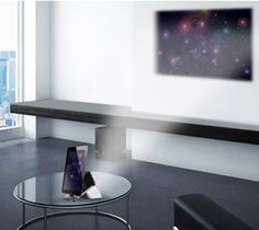 Conceito de projetor para iPhone e iPad transforma sua casa em cinema.