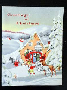 NOS Vintage 1940s Holiday Christmas Greeting by HolyCityVintage