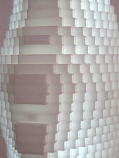 'Landscape'  A light made of SLS, nylon, halogen source