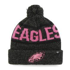 77ad6ca8454e4 Philadelphia Eagles Northmont Cuff Knit Charcoal Pink 47 Brand Womens Hat