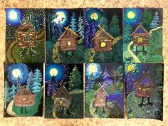 Фотография Art Education Projects, Winter Art Projects, School Art Projects, Spring Art, Summer Art, Art Cart, 4th Grade Art, Art N Craft, Art Lessons Elementary