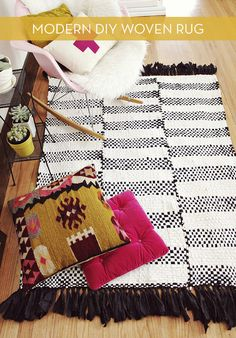 DIY rug + great website for other nice ideas