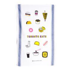 Shared History Toronto Eats Tea Towel - All - Gifting