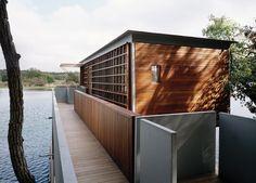 Bohlin Cywinski Jackson  - This boathouse would make a great houseboat.