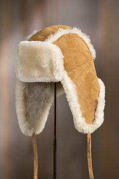 62d929ee7d2 Spanish Merino Shearling Sheepskin Trapper Hat