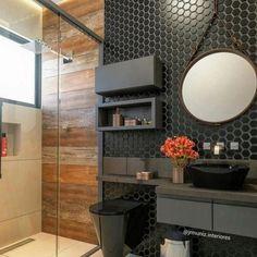 Bad Inspiration, Bathroom Inspiration, Bathroom Design Small, Modern Bathroom, Bathroom Black, Light Bathroom, Grey Bathrooms, Ideas Baños, Decor Ideas