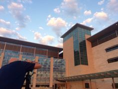 Beautiful sky here at the new Fort Riley Hospital.