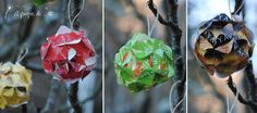 recycled christmas tree decorations with tea bags