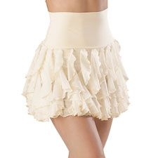 Water Fall High Wasted Skirt- This is so cute and I would love to have this as a costume for a recital!