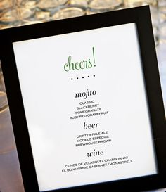 15 Creative Sign Ideas for the Bar | Photo by: Eclectic Images | TheKnot.com