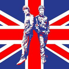 Oasis--Liam and Noel. Union Jack, Rock N Roll, Rock Festival, Peel Sessions, Liam And Noel, Look Back In Anger, Band Camp, Liam Gallagher, British Rock