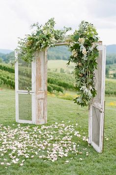 rustic doorway ceremony arch - brides of adelaide