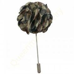 Men's Boutonniere Stick Brooch Pin