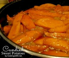 The Very Best Southern Candied Sweet Potatoes, slices of sweet potatoes covered with a buttery brown sugar mixture and cooked until the edges are caramelized. A side dish that graces tables in the south especially around the holidays. Potato Dishes, Vegetable Side Dishes, Vegetable Recipes, Food Dishes, Potato Pie, Veggie Food, Southern Candied Yams, Candied Yams Recipe, Stove Top Candied Yams