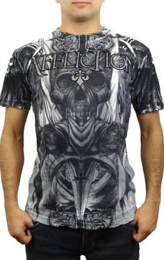 www.hotlistsports.com Affliction Planet X Men's T-Shirt XL White | What The Athletes are Sporting