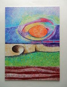 Wood art. ORIGINAL abstract OIL. 30 cm x 40 cm por ArtEstrela