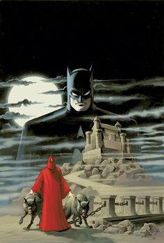 Batman and The Mad Monk by Matt Wagner Batman Love, Batman And Batgirl, Matt Wagner, Children's Comics, Comic Villains, Comic Art Community, Batman Artwork, American Comics, The Villain