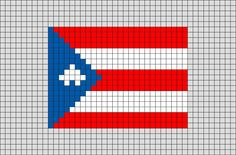 Flag of Puerto-Rico Pixel Art from BrikBook.com #PuertoRico #FlagofPuertoRico #CommonwealthofPuertoRico #PuertoRican #Caribbeanisland #pixel #pixelart #8bit Shop more designs at http://www.brikbook.com