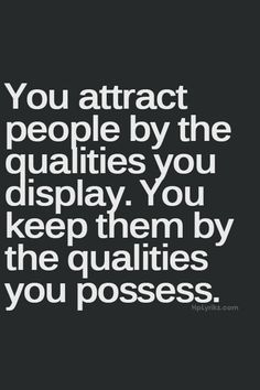 Attracting and keeping people ...