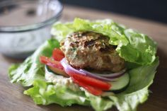 Turkey Burger Lettuce Wrap- Healthy, quick and healthy.