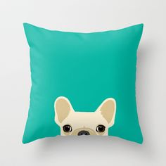 French Bulldog Throw Pillow by Anne Was Here - $20.00.  www.rightnowredesign.com