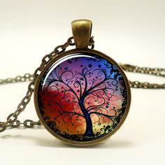Tree Necklace. I actually saw a suitcase with a similar tree pattern/color scheme a few weeks ago XD